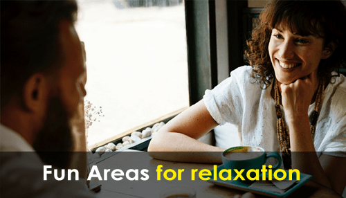Fun areas for relaxation