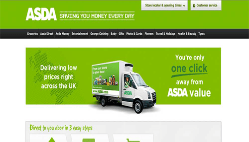 Asda is the best online shopping site in the United Kingdom