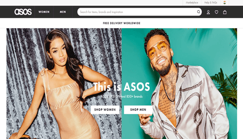 Asos best best online clothing store in the uk