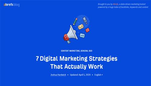 Ahrefs Digital marketing Blog