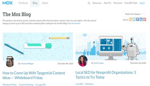 MOZ Digtal Marketing Blog