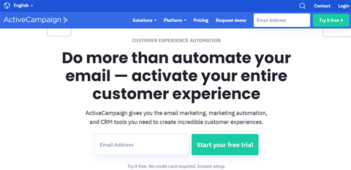 Active campaign marketing automation SaaS tool
