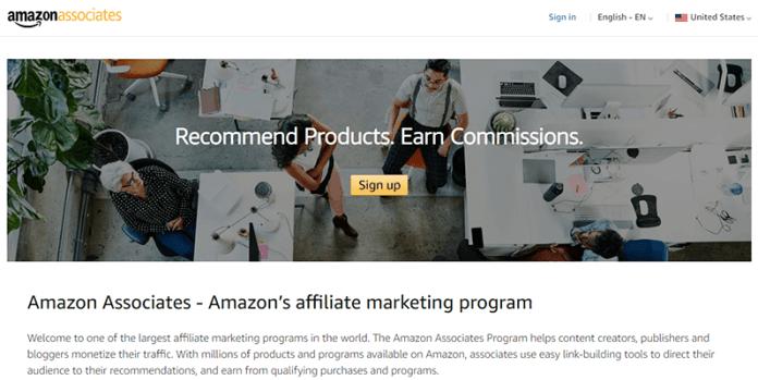 Amazon Associates affiliate program for beginners