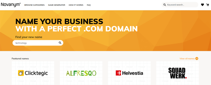 Novanym business name generator