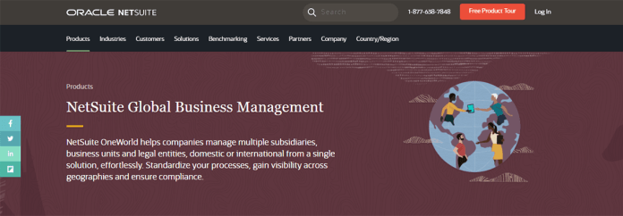 NetSuite OneWorld ERP global business management
