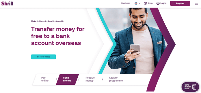 Skirll popular online payment provider