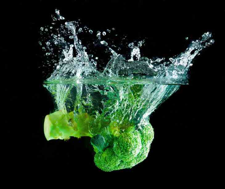 Green Broccoli falling water on white | Most Nutritious Foods to Add to Your Diet
