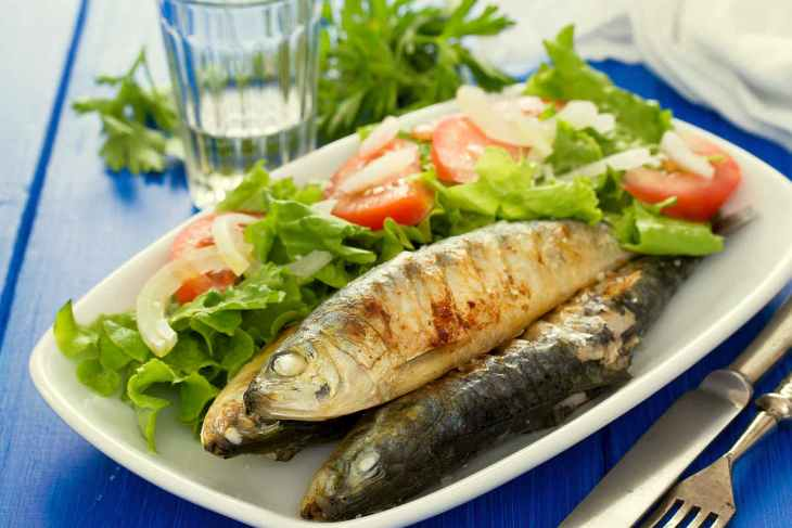 Grilled Sardines salad on white dish | Most Nutritious Foods to Add to Your Diet