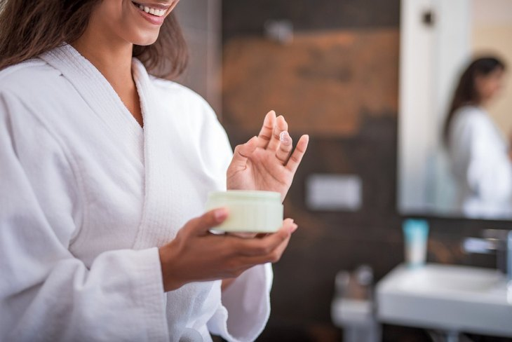 Woman holding special cream | Surprising Benefits Of Baking Soda