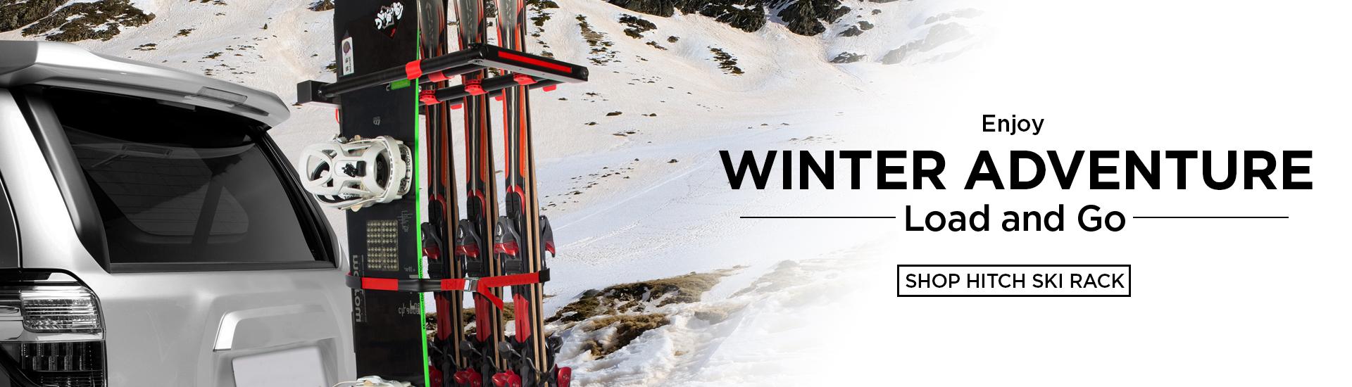 tyger auto hitch mount ski rack