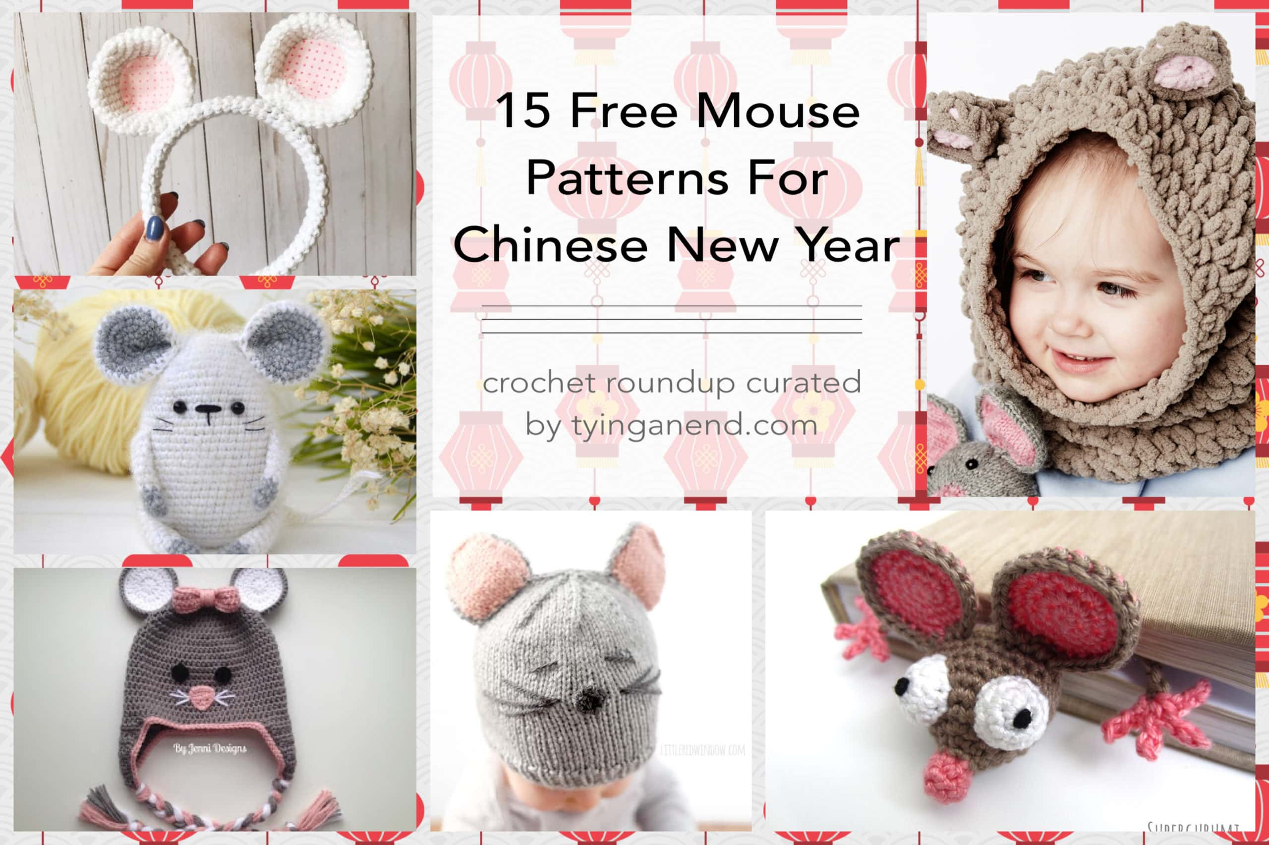 Amigurumi Crochet Mouse Bookmark | 1705x2560