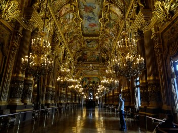 Beautiful Hallway in Palais Garnier Paris, France