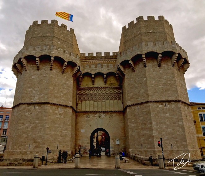 Torres de Serranos city gate, Valencia, Spain