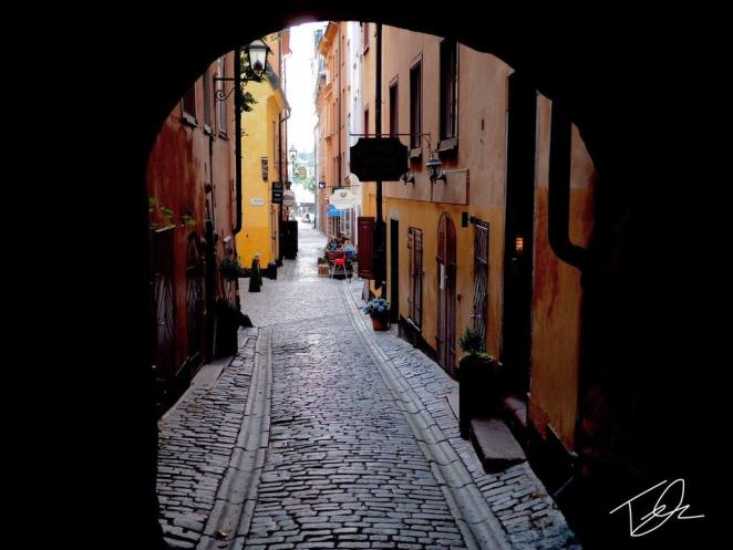 Alleyway in Stockholm sweden