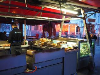 If you're a seafoodie, Norway will not disappoint. Many times you'll see outside vendors in the town square selling fresh seafood, cooking it to order before your eyes.