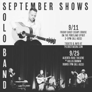 Tyler Stenson live shows