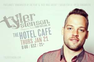 Tyler Stenson at the Hotel Cafe
