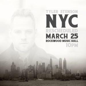 Tyler Stenson in NYC 2017