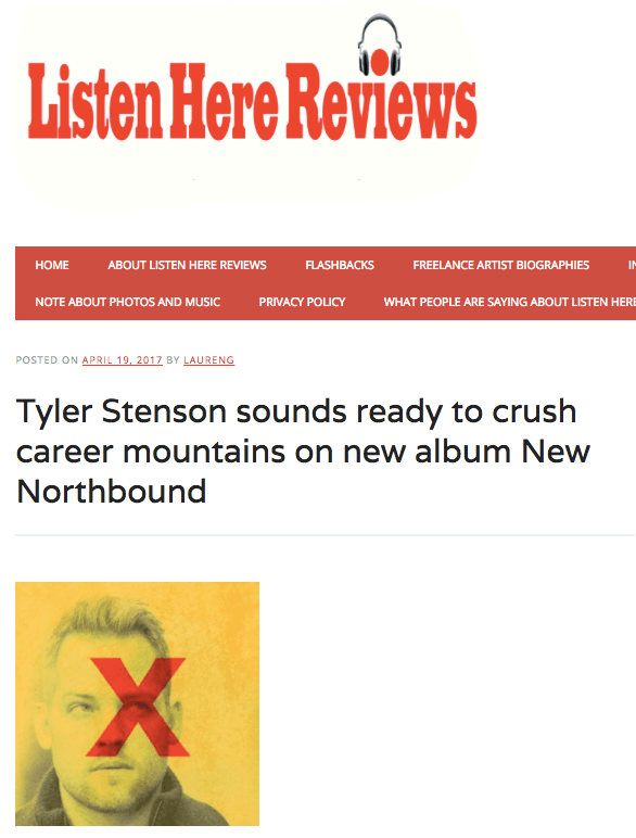 Tyler Stenson on Listen Here Reviews
