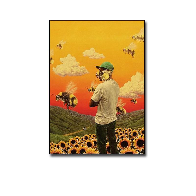 Tyler The Creator Flower Boy Rap Music Canvas Painting