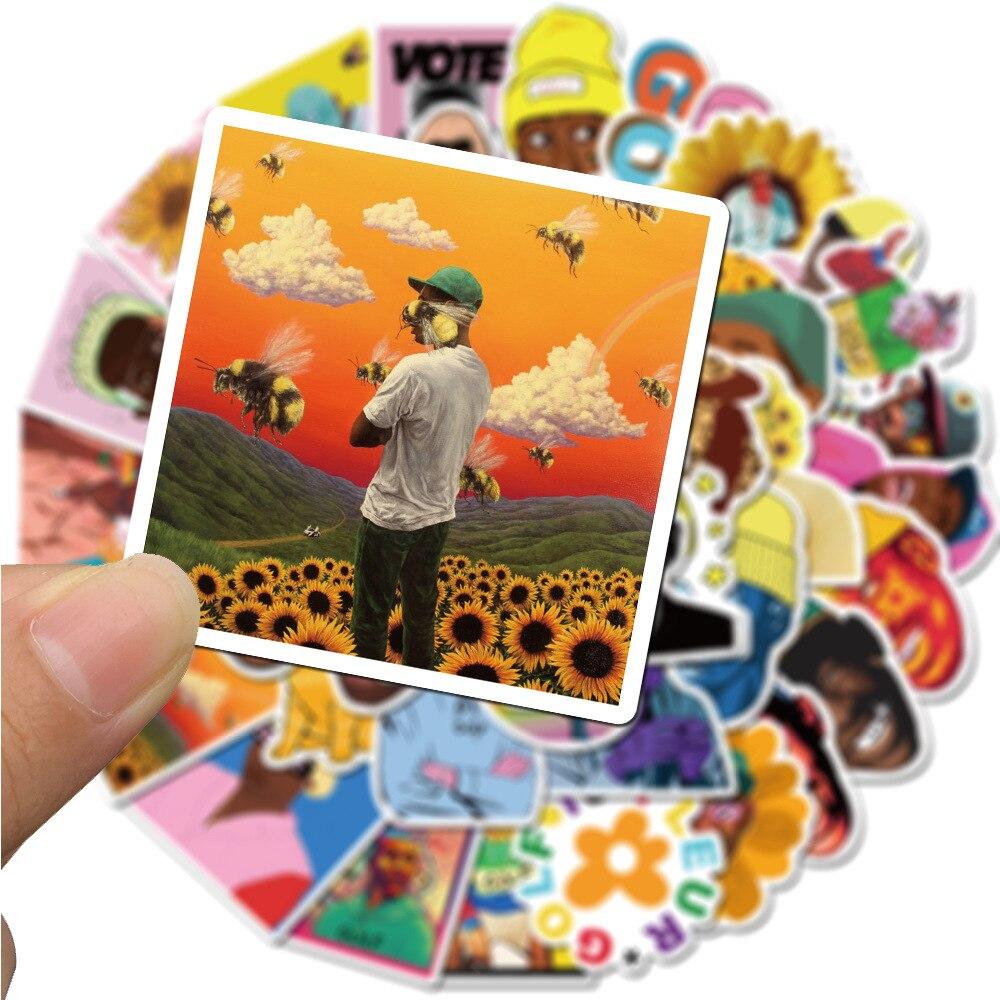 10/50pcs Rapper Tyler The Creator Waterproof Stationery Sticker