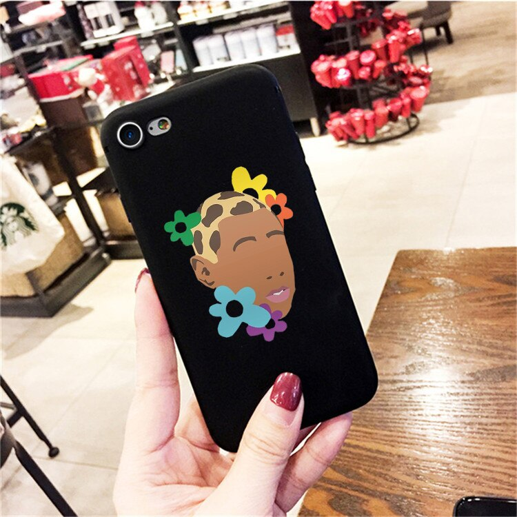 Flower Boy Colored Soft Silicone Phone Case