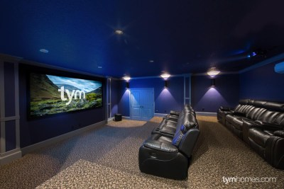 Home Cinema, Surround Sound, Anamorphic Screen, Wolf Cinema Projector, Anthem Receiver, Paradigm Speakers - Salt Lake Parade of Homes