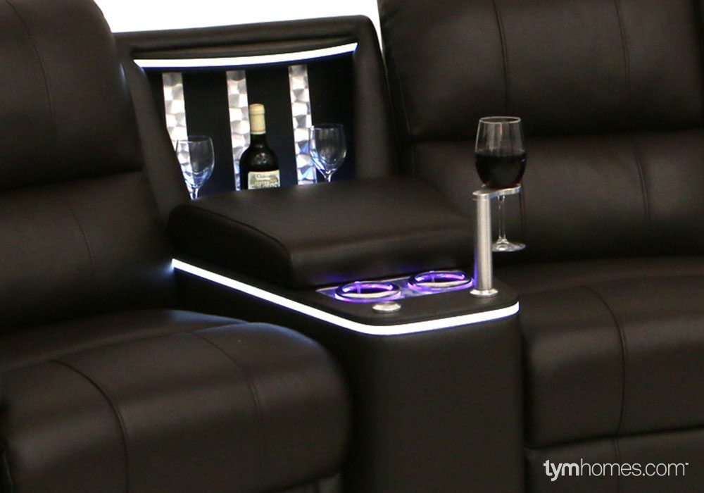 Seatcraft Home Theater Seating, Salt Lake City, Utah  |  Seatcraft Refreshment Consule (OPTIONAL - NOT INCLUDED)
