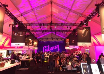 CES 2015   Gibson Guitar tent after party with Frankie Moreno