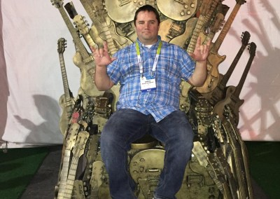 CES 2015 | 'Game of Tones' outside the Gibson Guitar tent