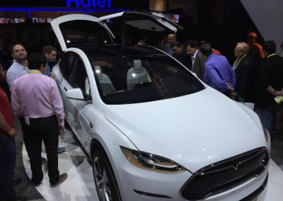 CES 2015 | Tesla Model X at the Panasonic booth
