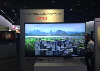 CES 2015 | Netflix 4K streaming at LG's booth