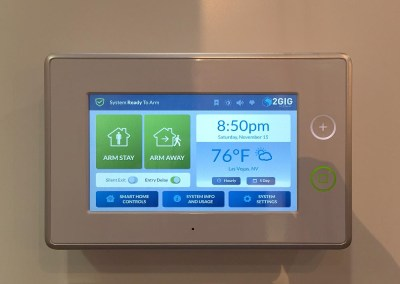 CES 2015 | Nortek's booth featuring a 2GIG GoControl panel
