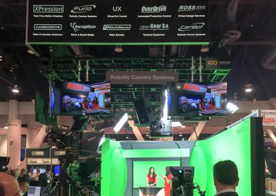 2015 NAB Show #NABshow | virtual set demo with robotic cameras