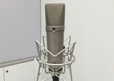 2015 NAB Show #NABshow | Sennheiser booth, Neumann studio microphone