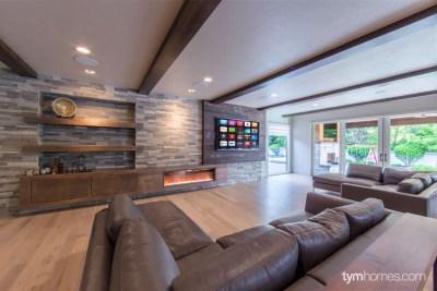 "Boise smart home remodel   Video Distribution, 80"" Sharp TV with SANUS Mount, Home Audio, Savant Automation   Boise, Idaho"
