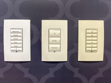 Control4 customizable keypads for lighting and home automation, CEDIA 2015 | TYM, Salt Lake City, Utah