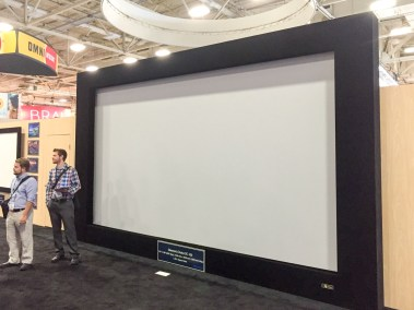 Stewart Filmscreen's Director's Choice screen masking system, CEDIA 2015 | TYM, Salt Lake City, Utah