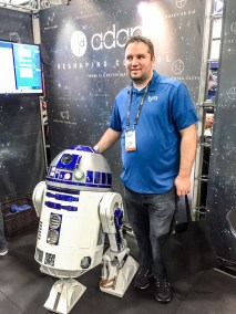 R2-D2 and Greg Montgomery, CEDIA 2015