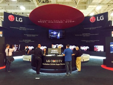 LG OLED TV booth at CEDIA 2015
