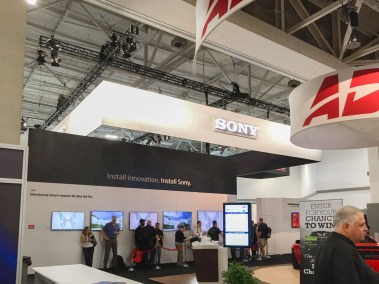 Sony booth, CEDIA 2015