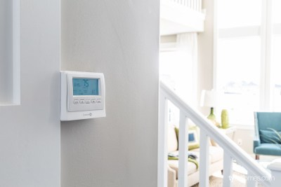 Control4 home automation with smart thermostat, Candlelight Homes, Utah Valley Parade of Homes