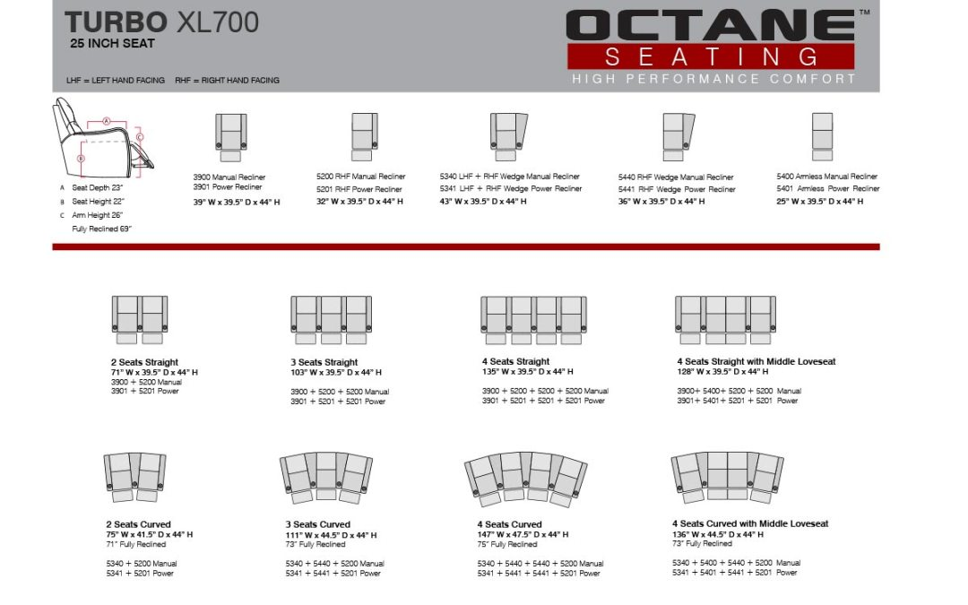 Octane Home Theater Seats Configurations
