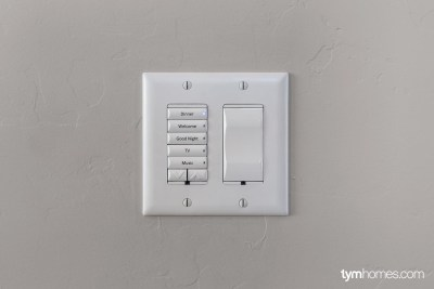 Control4 keypad and  smart light switch, Candlelight Homes, Salt Lake City, Utah