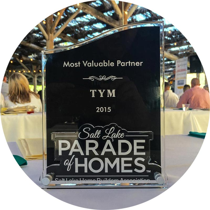 Most Valuable Partner, 2015 Salt Lake Parade of Homes