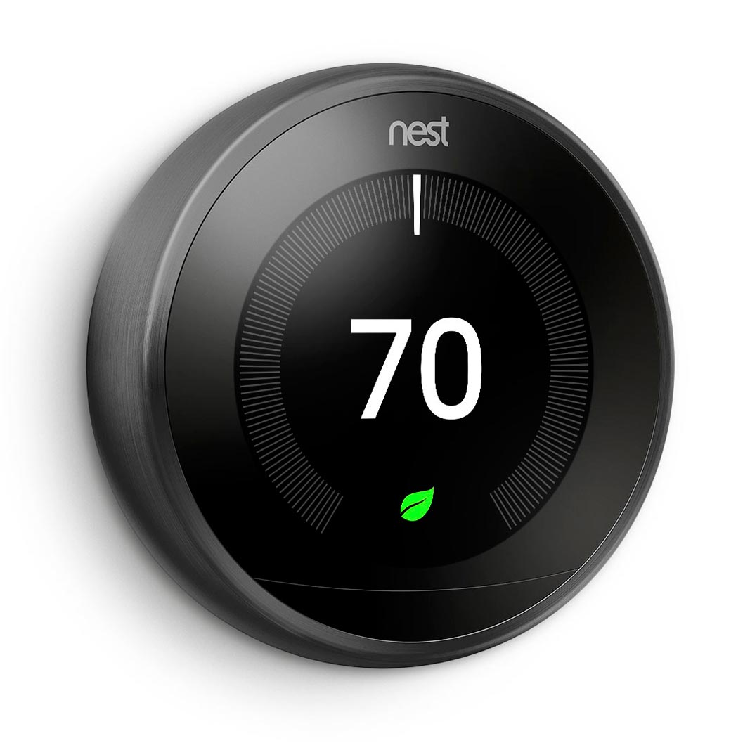 Nest Learning Thermostat Black Color