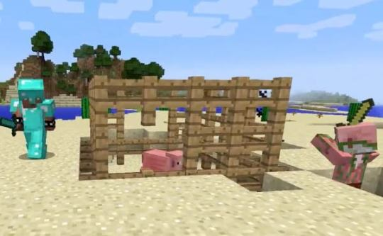 Minecraft Games   Tynker Defend the Pig