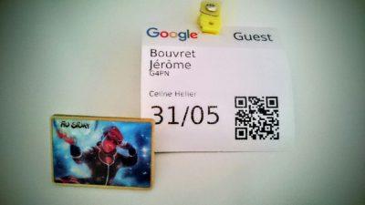 Pins de l'association TyoStory et Badge invité de Google Association TyoStory et l'événement #GoogleAsso