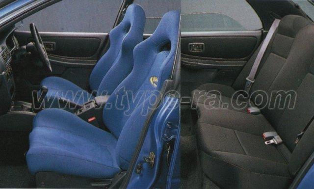 Impreza WRX Type RA Limited seats