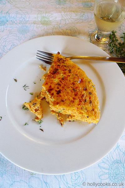 sweet potato and thyme frittata